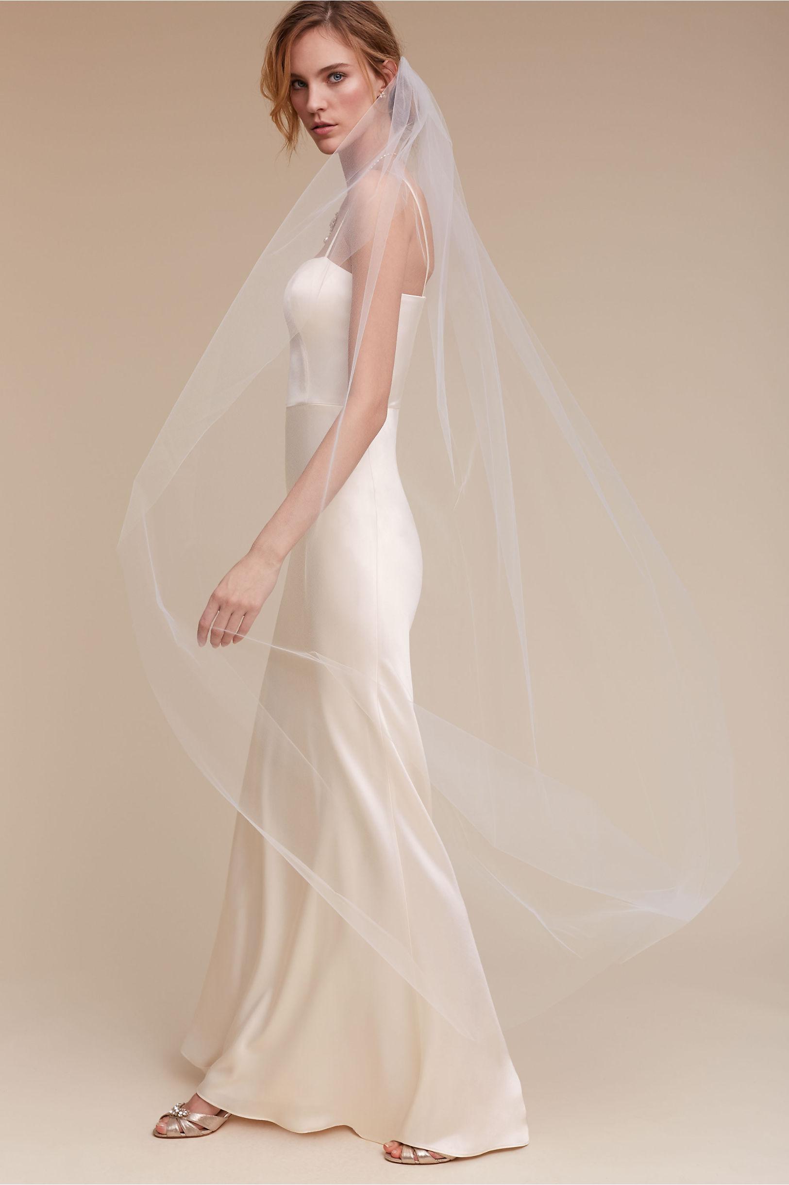 Moonlight Veil Ivory in Bride | BHLDN