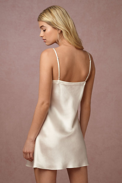 Ginia Ivory Alma Silk Dress | BHLDN