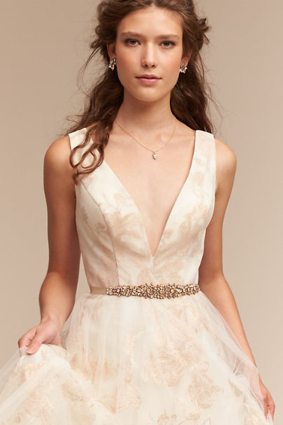 Sandy Hyun Gold Tamara Crystal Necklace | BHLDN