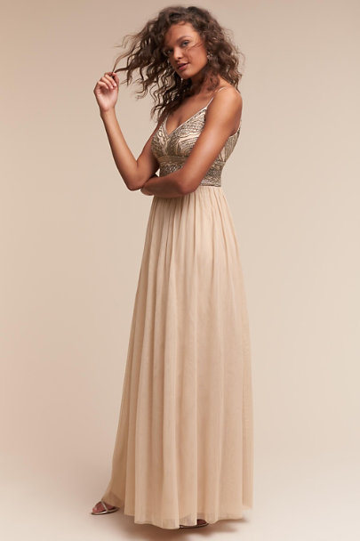 Adrianna Papell Nude Aida Dress | BHLDN