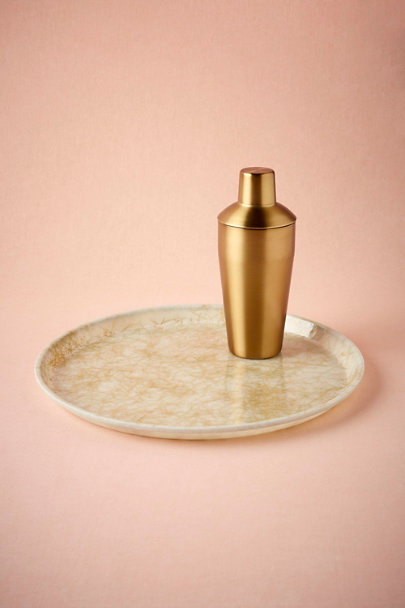 Gold Gold-Etched Serving Tray | BHLDN