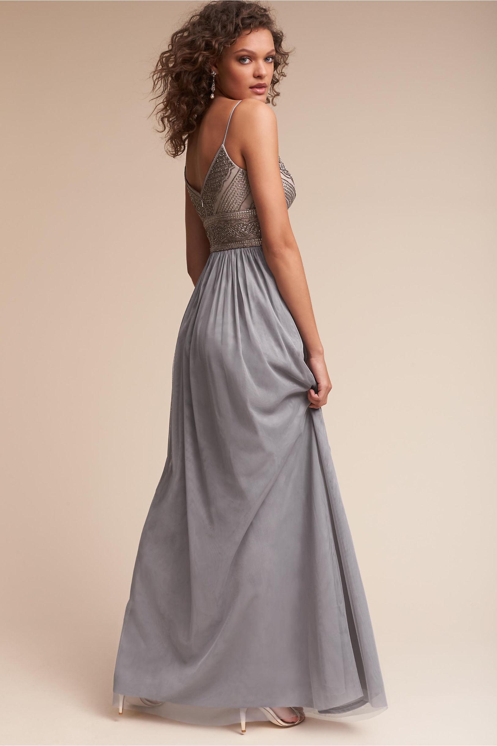 Aida Dress Silver Grey in Sale | BHLDN
