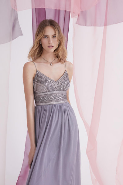 Adrianna Papell Silver Grey Aida Dress | BHLDN