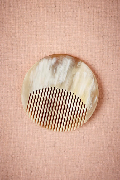 Cream Circlet Horn Comb | BHLDN