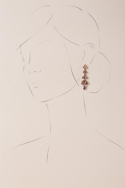 Sorrelli Gold Crystal Petals Earrings | BHLDN