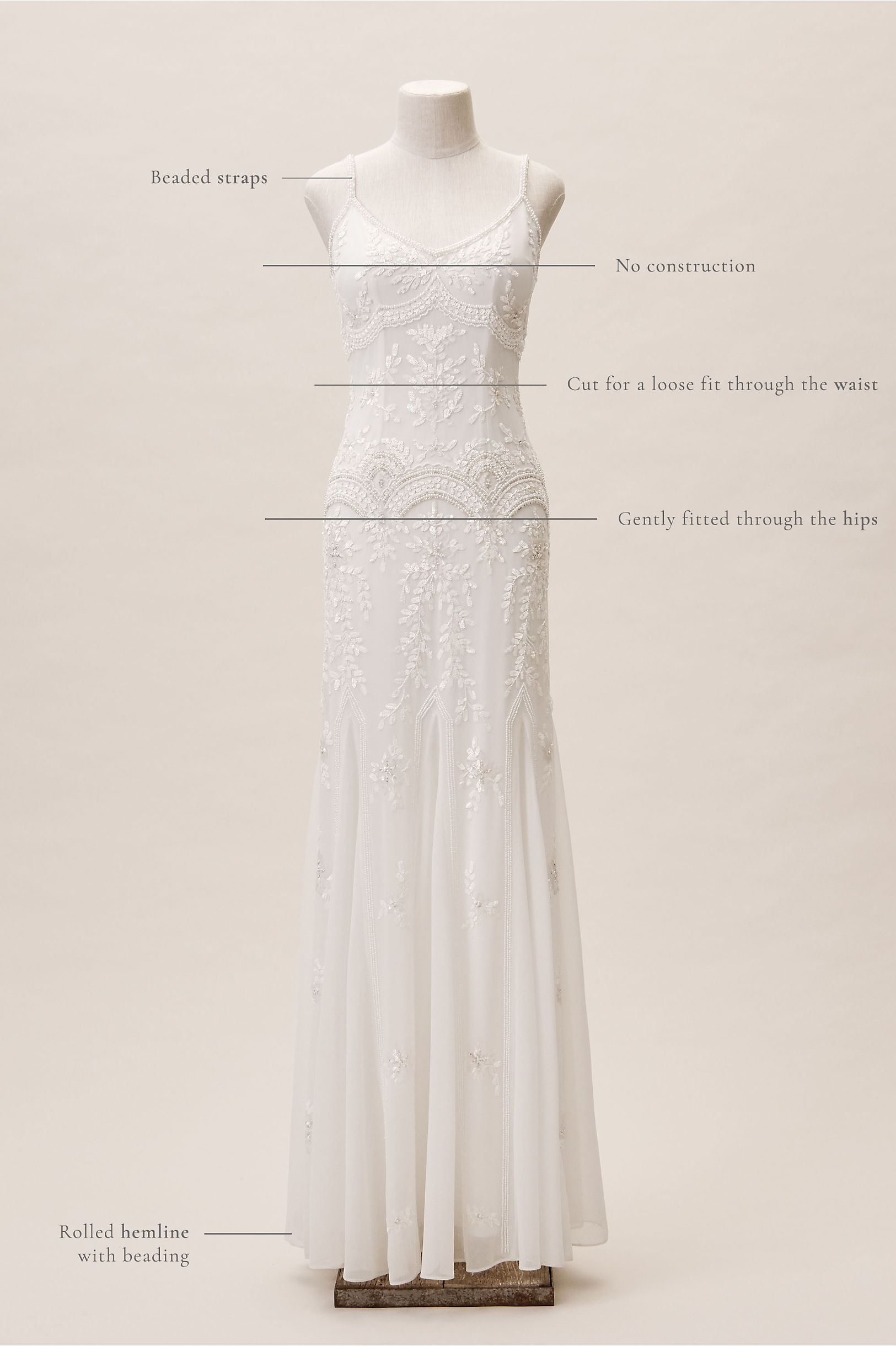 Vintage Inspired Wedding Dress | Vintage Style Wedding Dresses Naomi Gown $800.00 AT vintagedancer.com