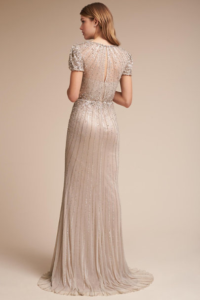 Ivory/Silver Barton Gown | BHLDN