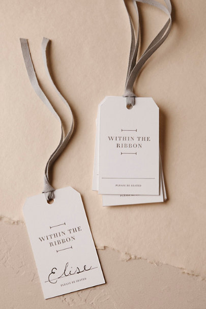 White Ribboned Chair Tags (10) | BHLDN