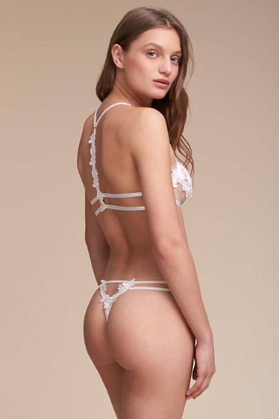 Flora Nikrooz Ivory Showstopper Thong | BHLDN
