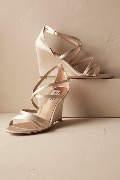Badgley Mischka Ivory Candace Wedges | BHLDN