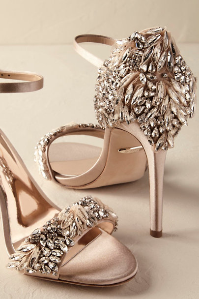 Badgley Mischka Nude Tampa Heels | BHLDN
