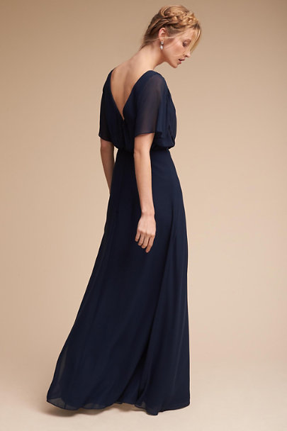 Watters Navy Epperley Dress | BHLDN