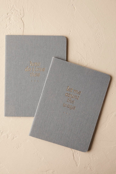 Wedgewood Blue Pair of Vow Journals (2) | BHLDN