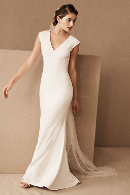 Sheath column wedding dresses bhldn sawyer gown sawyer gown junglespirit Choice Image