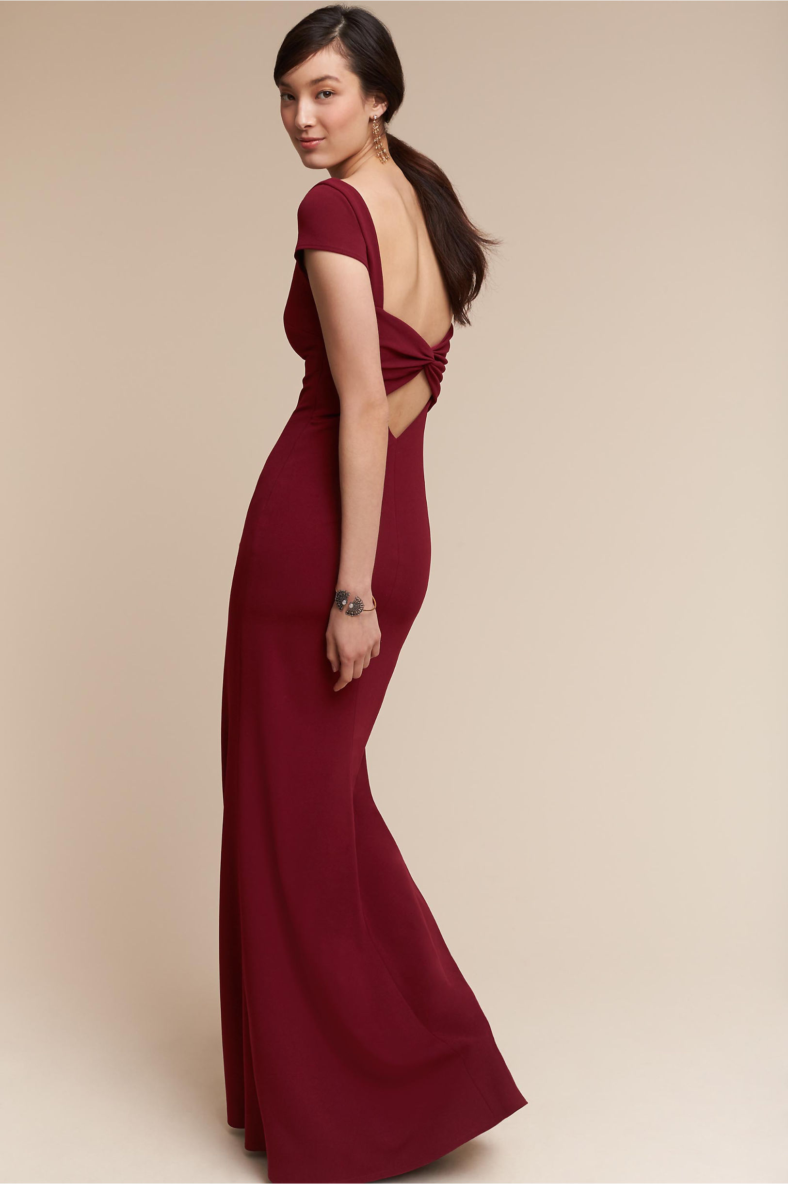 Madison Dress Bordeaux in Bridesmaids & Bridal Party | BHLDN
