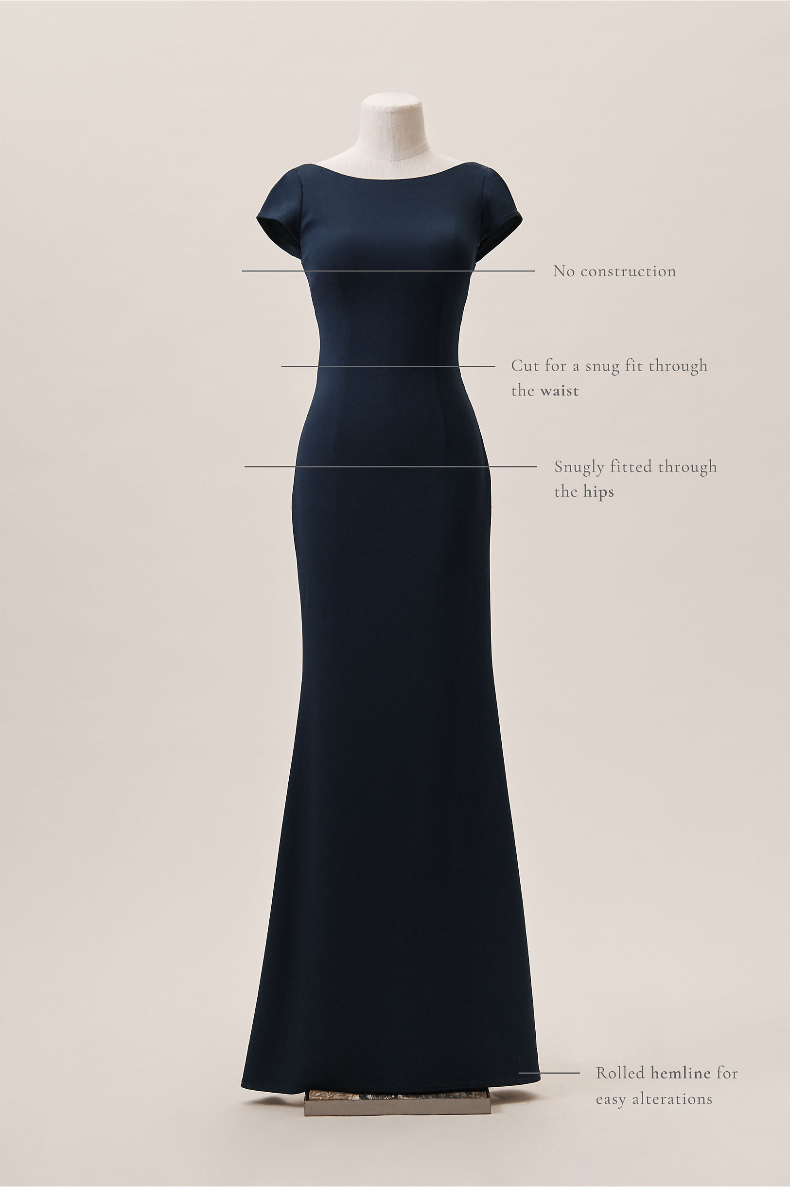Madison Dress Navy in Bridesmaids & Bridal Party | BHLDN