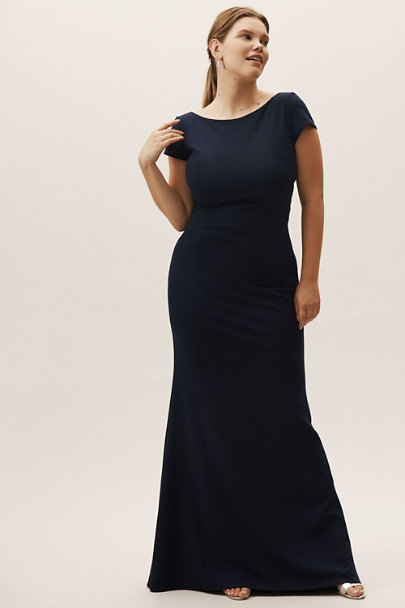 Katie May Navy Madison Dress | BHLDN