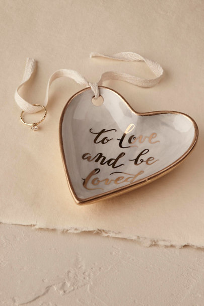 Grey 'To Love and Be Loved' Ring Dish | BHLDN