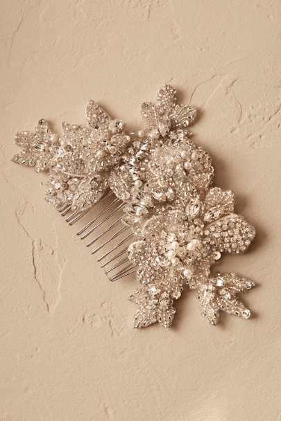 A.B. Ellie Ivory Shimmering Blooms Hair Comb | BHLDN