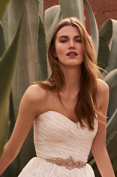 Whispers & Echoes Ivory/Champagne Freesia Gown | BHLDN