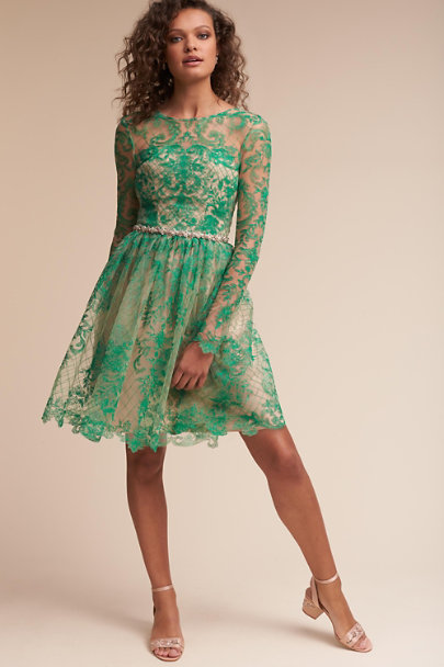 da73722f235c1c Monique Lhuillier Bridesmaids Green Holly Dress