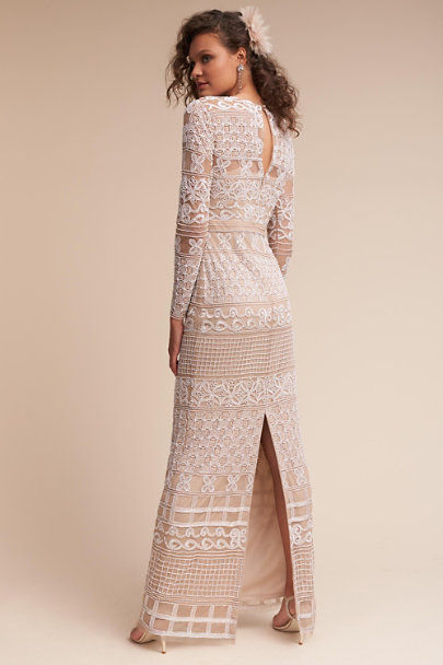 Adrianna Papell Ivory/Nude Nevena Dress | BHLDN