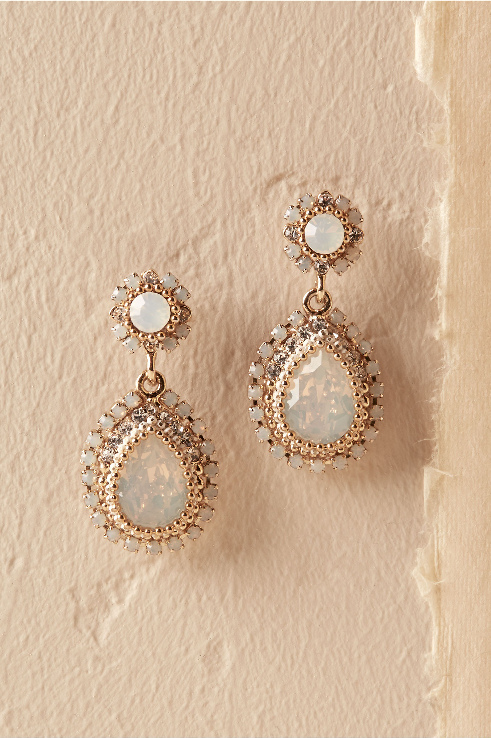 Maria Opal Earrings Gold in Bride | BHLDN