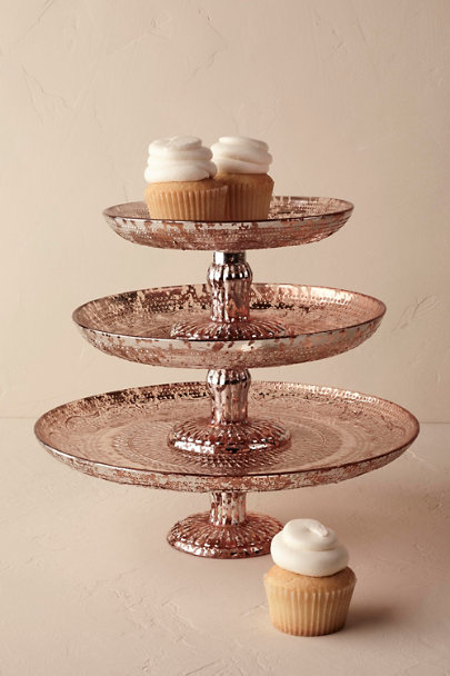 Antiquarian Rose Gold Cake Stand In Sale Bhldn