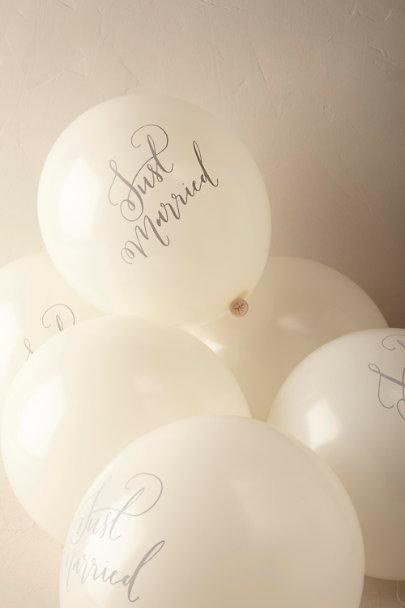 Cream Just Married Balloons 10 Bhldn