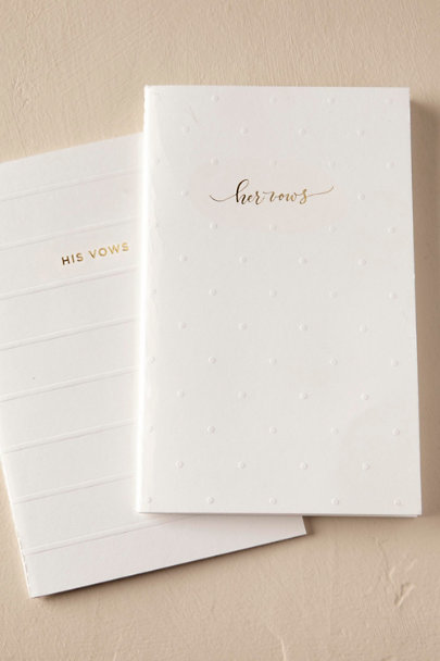 Sugar Paper White His & Hers Vow Books (2) | BHLDN