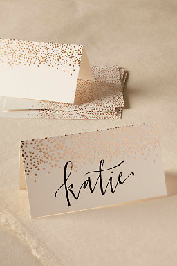 Golden Dot Place Cards (8)
