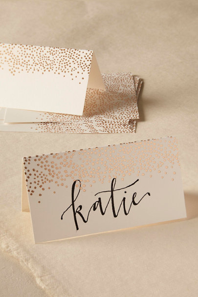 Rifle Paper Co. White Golden Dot Place Cards (8) | BHLDN