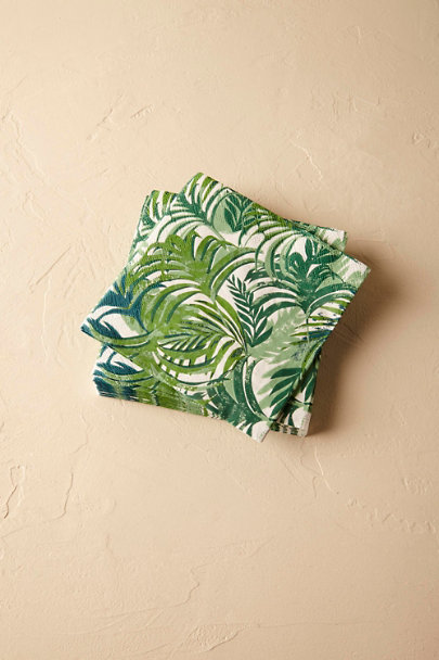 Green Tropical Palms Paper Napkins (20) | BHLDN