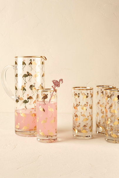 Gold Flamingo Pitcher | BHLDN