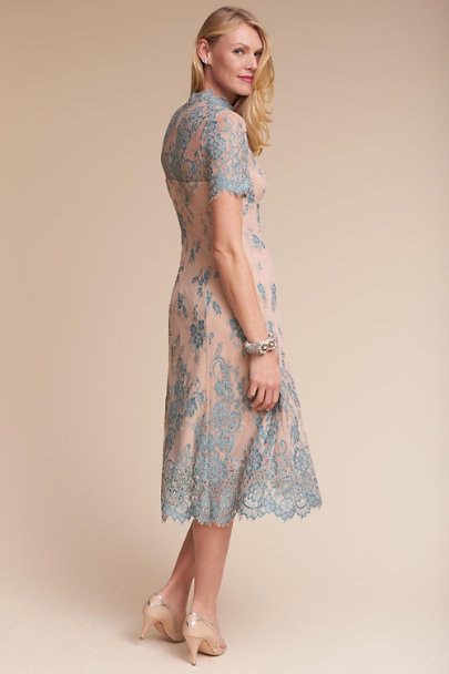 Hitherto Teal/Nude Allison Dress | BHLDN