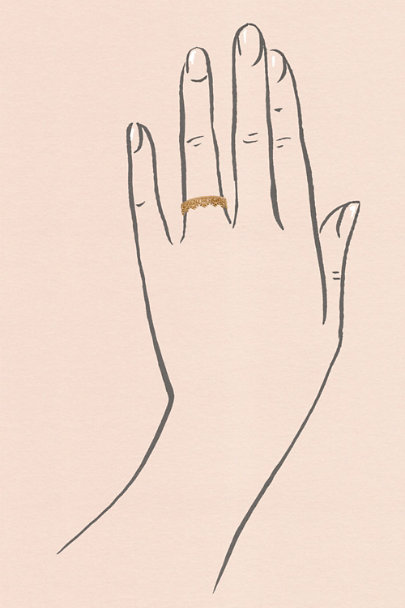Gold Oleska Crown Ring | BHLDN