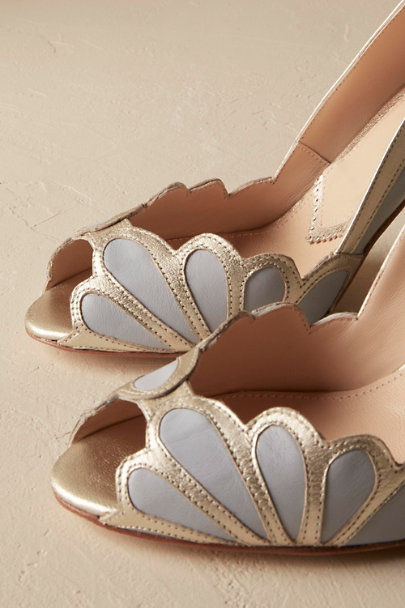 Rachel Simpson Sky Isabella Scalloped Heel | BHLDN