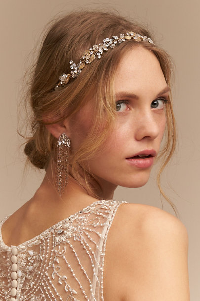 Theia Jewelry Gold Waterfall Chandeliers | BHLDN