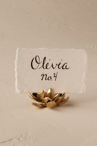 Collected Edition Raised Rosette Succulent Card Holder | BHLDN
