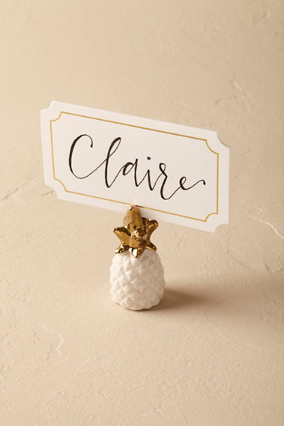 White Pineapple Placecard Holder | BHLDN