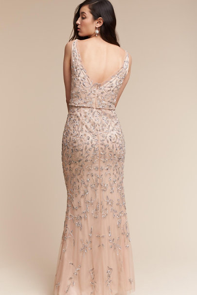 Lotus Threads Champagne Mariah Gown | BHLDN