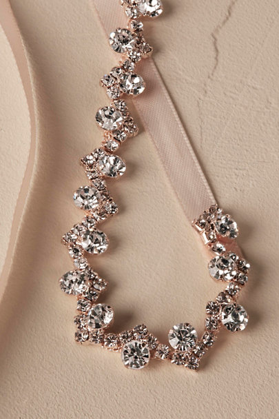 Rose Gold Priya Crystal Sash | BHLDN