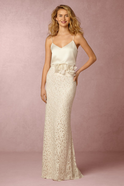 Catherine Deane Ivory Mia Top | BHLDN