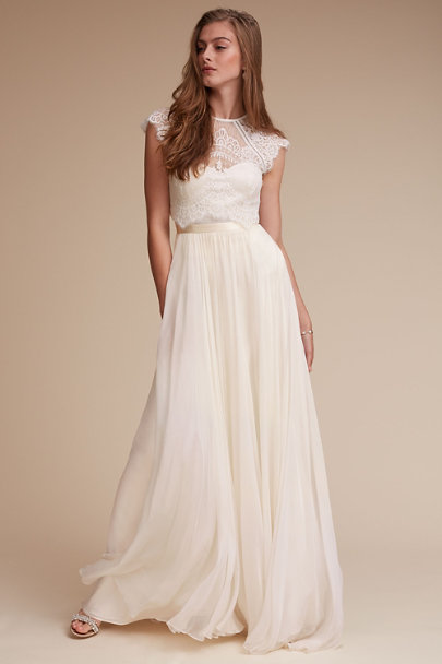 Delia Maxi Skirt Ivory In Bride Bhldn