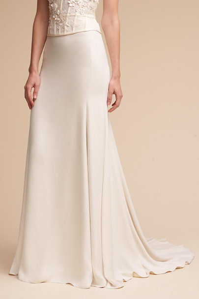 Watters Ivory Sade Skirt | BHLDN