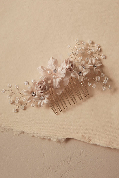 Ivory Anneli Floral Comb | BHLDN