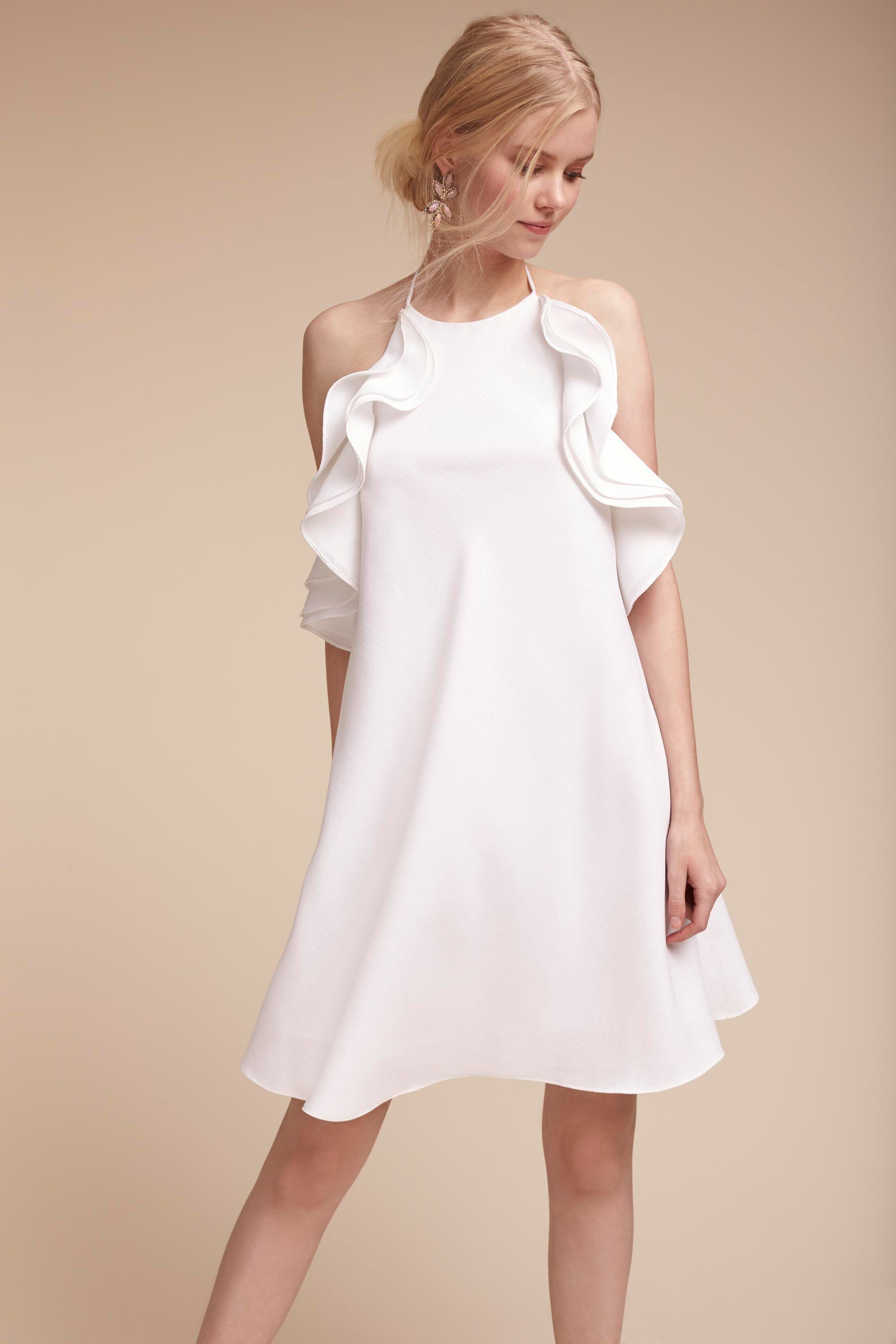 Badgley mischka white dress