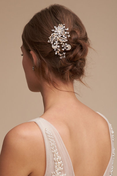 Paris by Debra Moreland Silver Fontaine Hair Comb | BHLDN