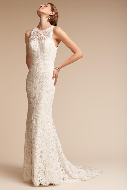 Watters Ivory/Champagne Ventura Gown | BHLDN