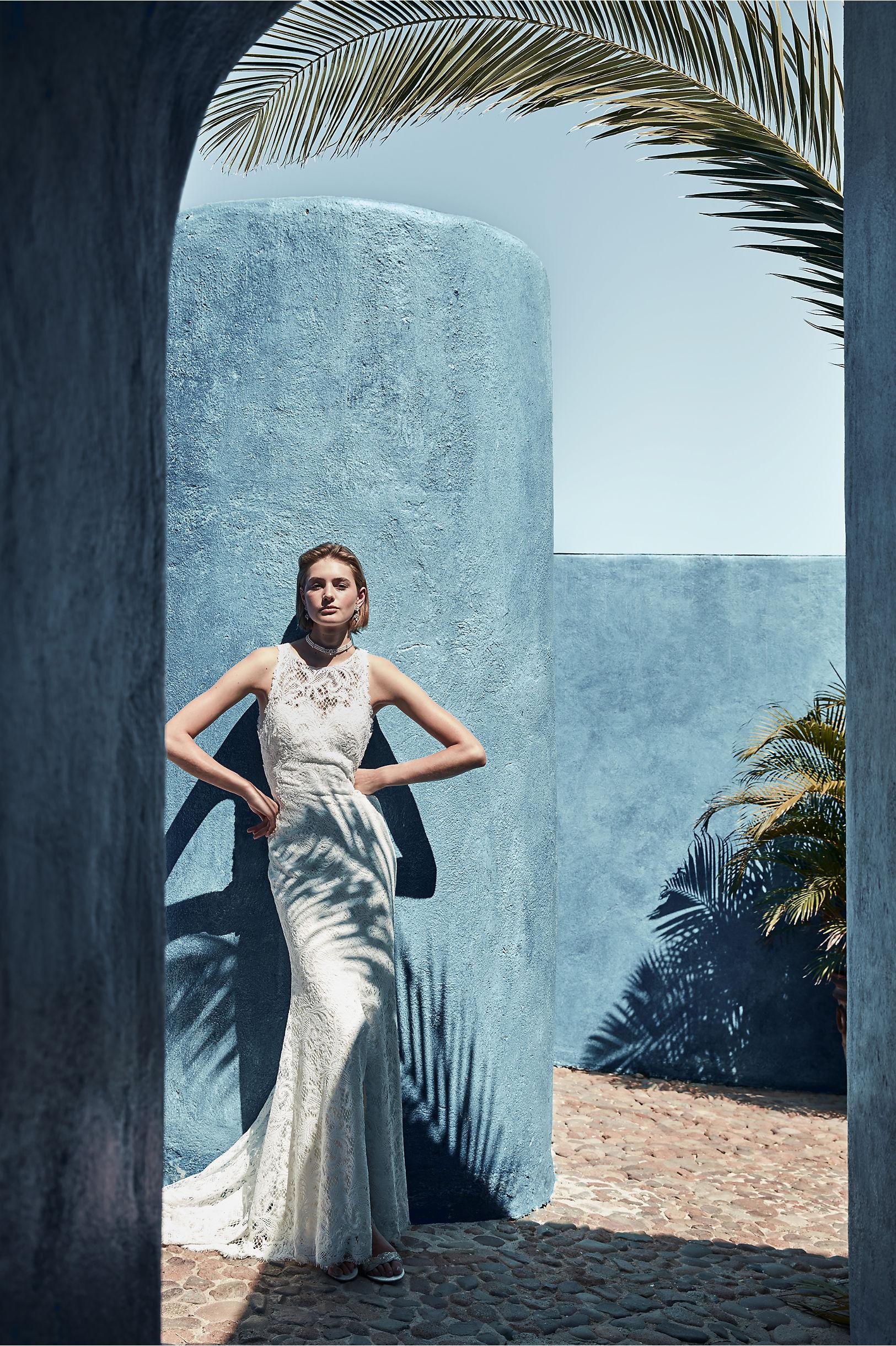 Ventura Gown Ivory/Champagne in Bride | BHLDN